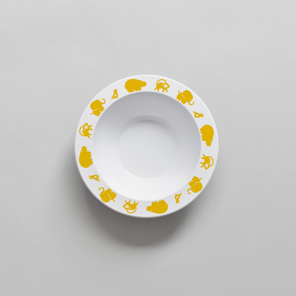 YELLOW WILD ANIMAL BOWL