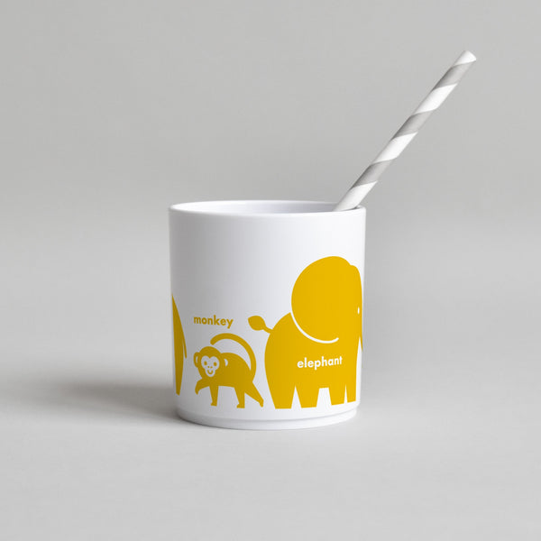 YELLOW WILD ANIMAL CUP