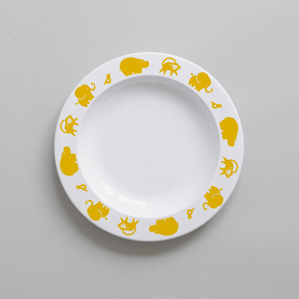 YELLOW WILD ANIMAL PLATE