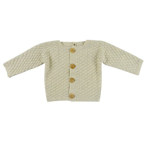 Bayiri Bat Baby Cardigan in White