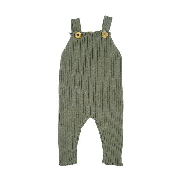 Bayiri Sloth Ribbed Baby Dungaree in Gray