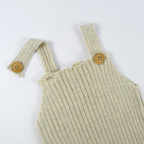 Bayiri Bayiri Sloth Ribbed Baby Dungaree Wooden Buttons