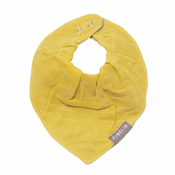 FABELAB BABY BANDANA BIB IN HONEY - sugarloaf