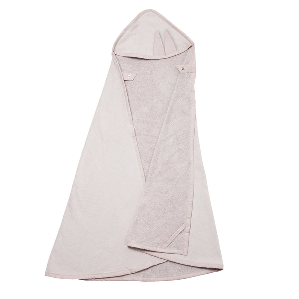 HOODED TOWEL CAPE BUNNY IN MAUVE