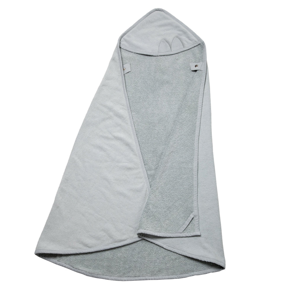 Fabelab HOODED TOWEL CAPE CAT IN ICEY GREY