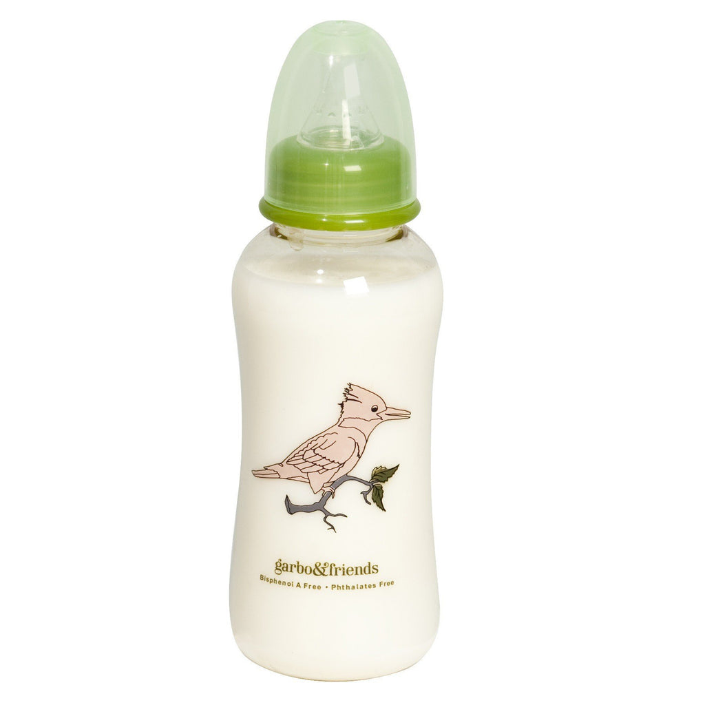 Garbo&Friends BIRDS BABY BOTTLE 10 OZ. WIDE NECK - sugarloaf
