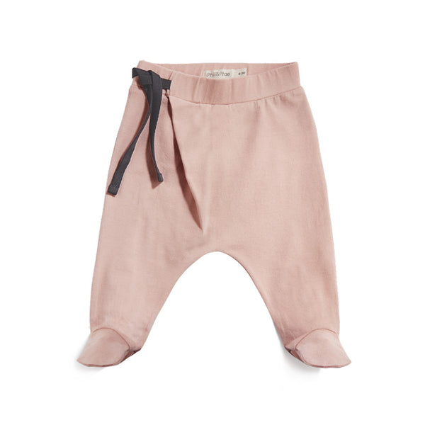 HAREM FOOTIE BABY PANTS IN BLUSH - sugarloaf