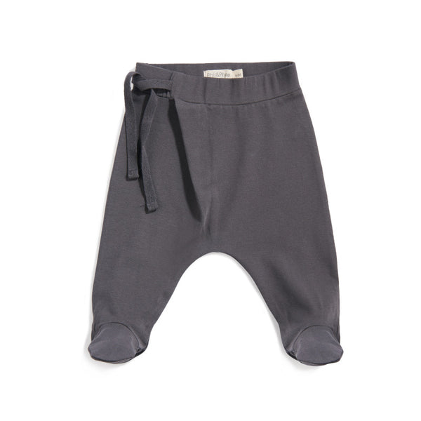 HAREM FOOTIE BABY PANTS IN GRAPHITE - sugarloaf