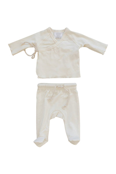 Mebie Baby Cotton Jersey Layette Set in Cream