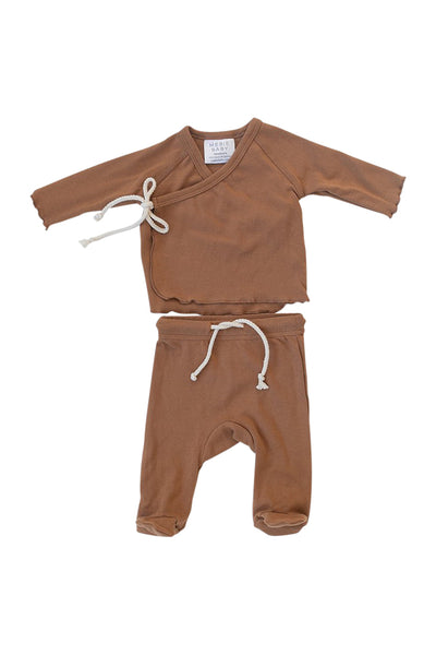 Mebie Baby Cotton Jersey Layette Set in Honey