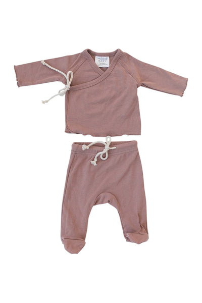 Mebie Baby Cotton Jersey Layette Set in Blush