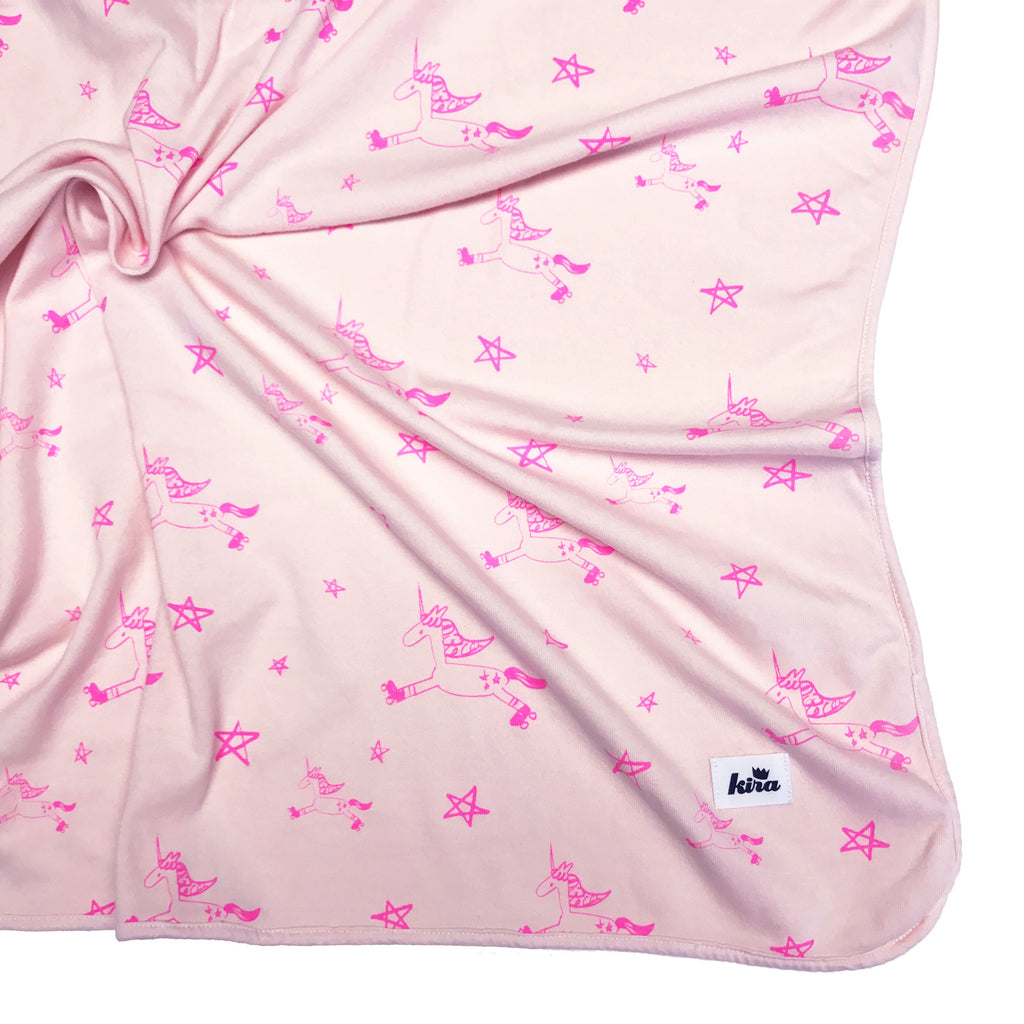 Kira Kids UNICORN BLANKET IN LIGHT PINK - sugarloaf