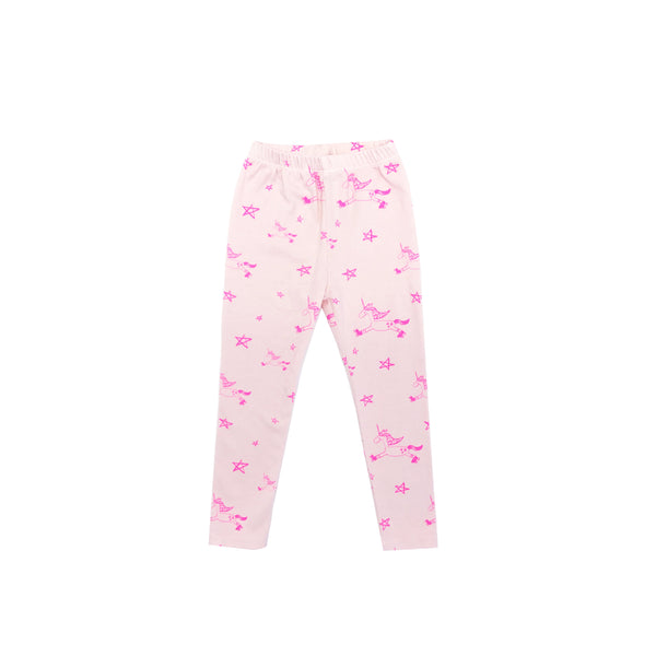 UNICORN LEGGINGS IN LIGHT PINK