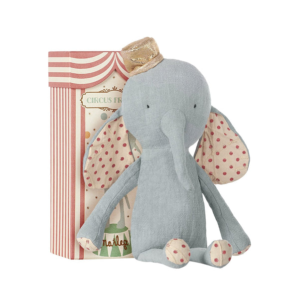 MAILEG CIRCUS FRIENDS ELEPHANT WITH HAT IN BLUE | Sugarloaf