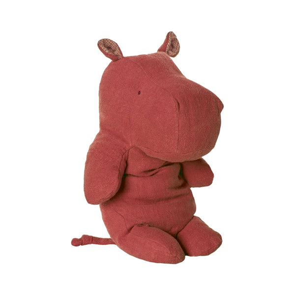 MAILEG BABY SOFT TOY HIPPO IN RED