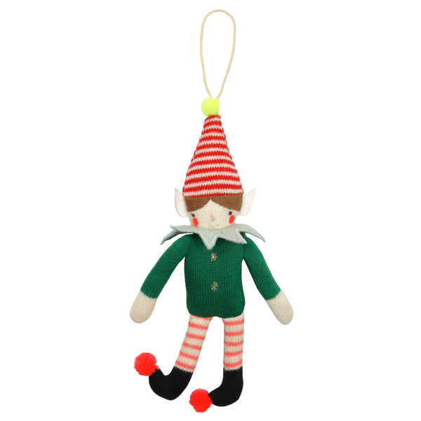 MERI MERI KNITTED ELF TREE DECORATION
