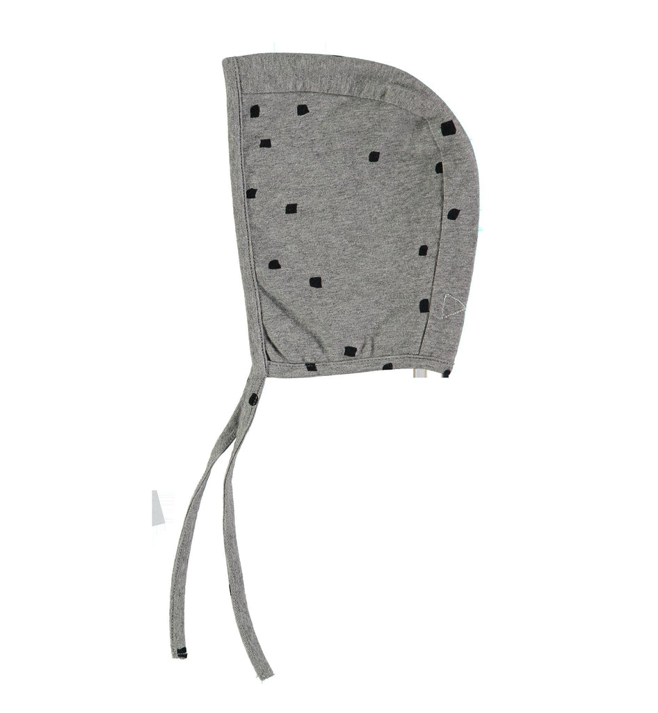 Mini Sibling by Beau Loves MINI SIBLING JERSEY CAP IN GREY WITH CONFETTI - sugarloaf