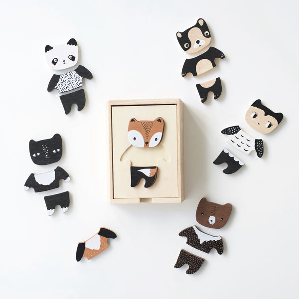 Wee Gallery Mix & Match Animal Tiles
