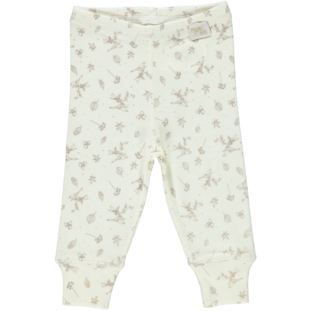 Poudre Organic ORGANIC BABY LEGGINGS IN MILK - sugarloaf