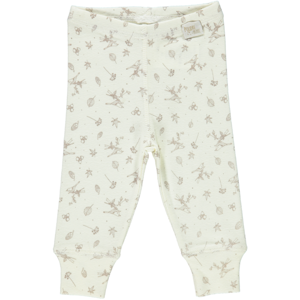 ORGANIC BABY LEGGINGS IN MILK - sugarloaf