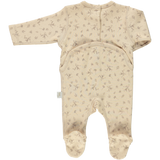 Poudre Organic ORGANIC BABY ROMPER WITH FEET IN AMBERLIGHT - sugarloaf