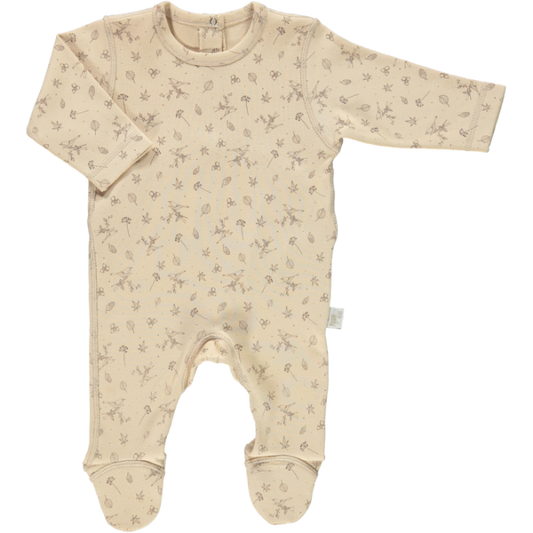 ORGANIC BABY ROMPER WITH FEET IN AMBERLIGHT - sugarloaf