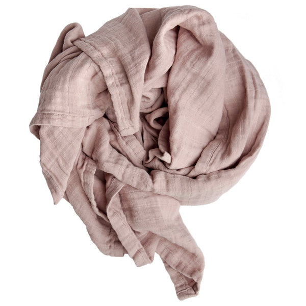 FABELAB ORGANIC SWADDLE IN MAUVE - sugarloaf