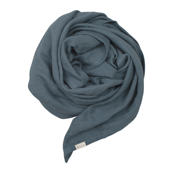 FABELAB ORGANIC BABY SWADDLE IN BLUE SPRUCE