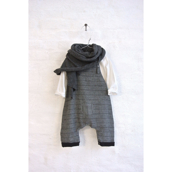 TORE LOOSE FITTED OVERALL IN GREY STRIPES