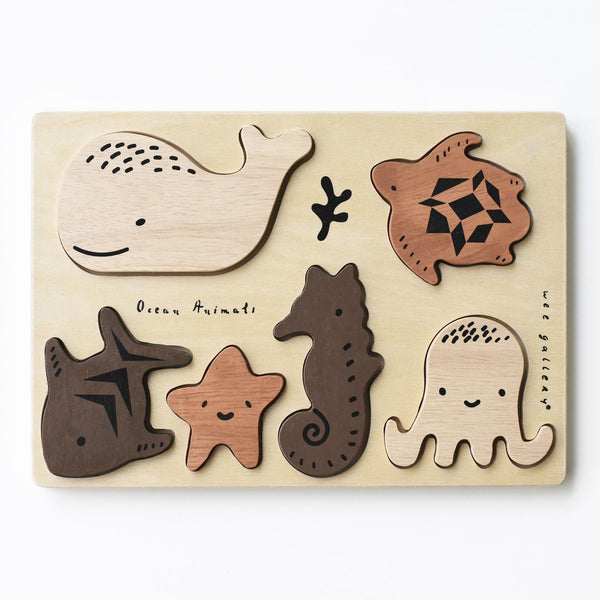 Wee Gallery Tray Puzzle - Ocean Animals