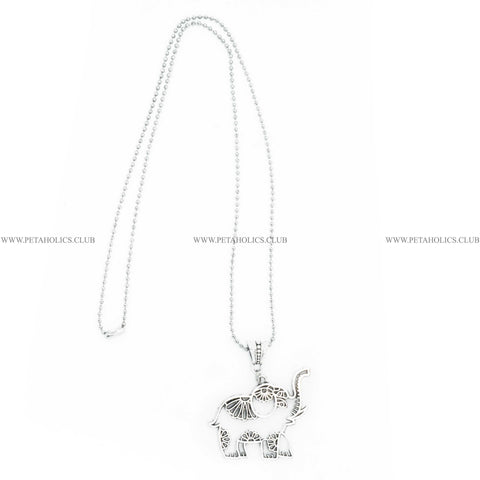 Elephant Pendant Long Ball Chain