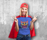 Colorful Owl 2 Female T-Shirt
