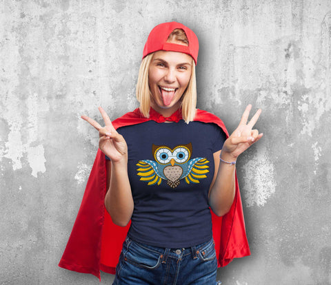 Decorative Owl Female T-Shirt