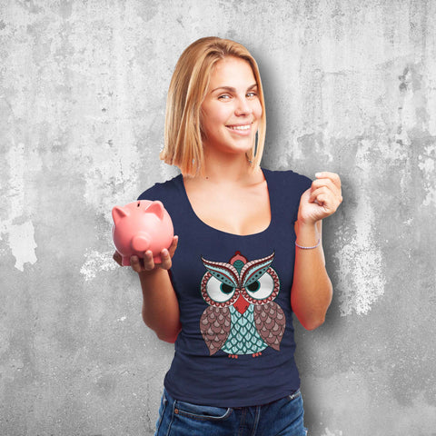 Elegant Owl Female T-Shirt