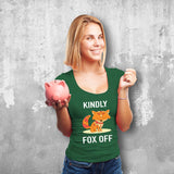Kindly Fox Off Female Green T-Shirt