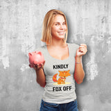 Kindly Fox Off Female Grey T-Shirt