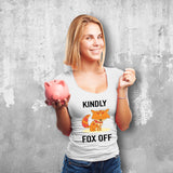 Kindly Fox Off Female White T-Shirt