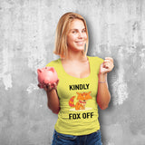 Kindly Fox Off Female Yellow T-Shirt