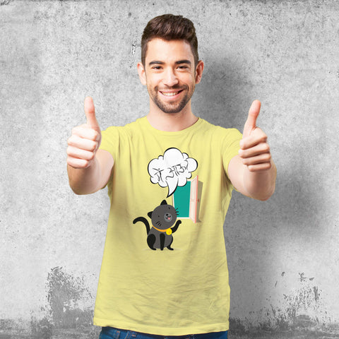 Mein Aau meow Male Yellow T-Shirt