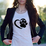 Paw In Heart Female T-Shirt