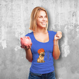 Pugdi Female Blue T-Shirt