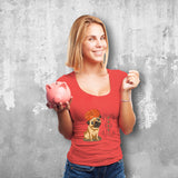 Pugdi Female Red T-Shirt