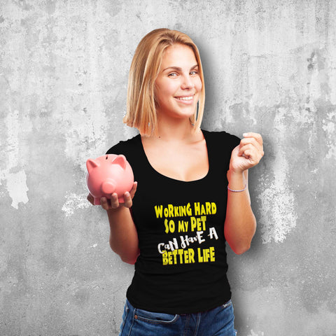 Working Hard Female T-Shirt