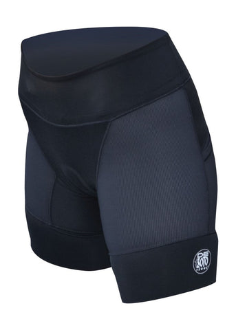 Riviera Triathlon Short - Black w/ 3 pockets