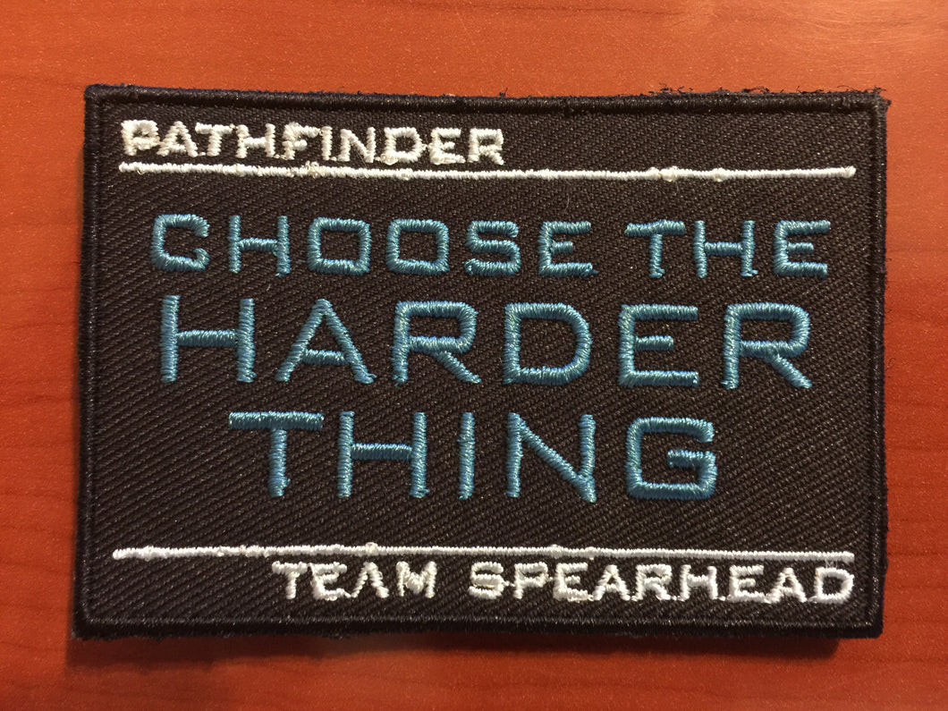 Choose The Harder Thing Patch