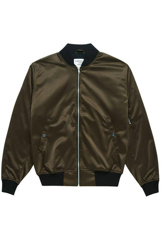 SATIN BOMBER CHARCOAL - ALISTAIR GREY