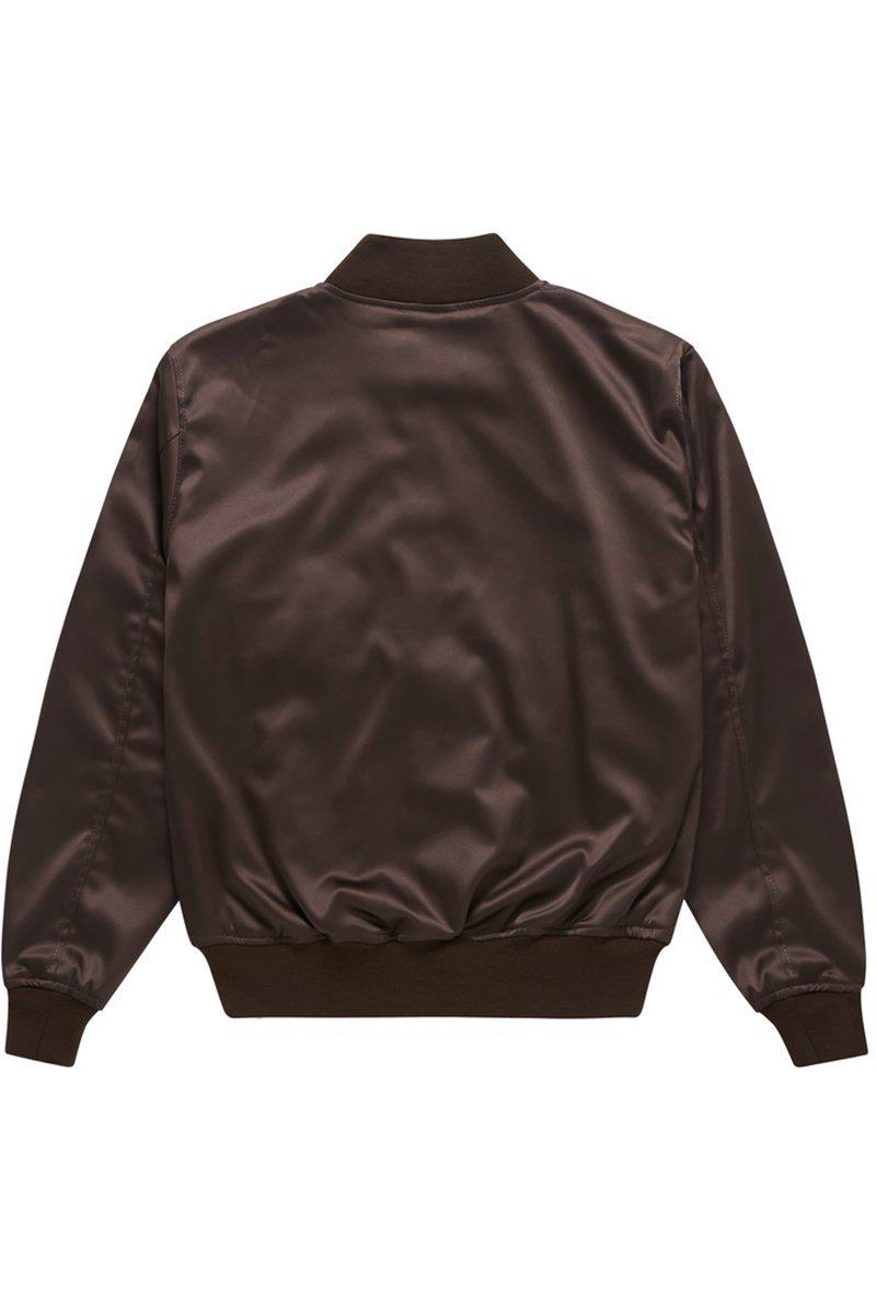 SATIN BOMBER WINE - ALISTAIR GREY