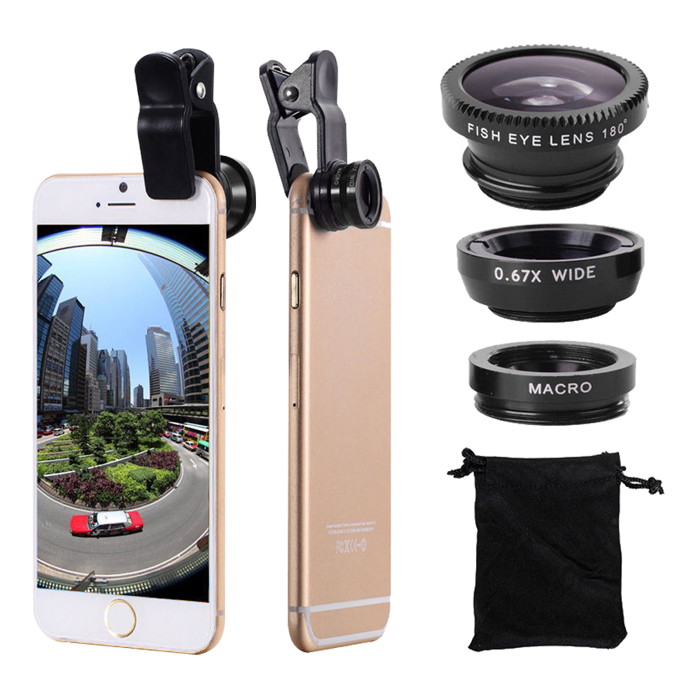 Universal 3-In-1 Fisheye Lenses Phone