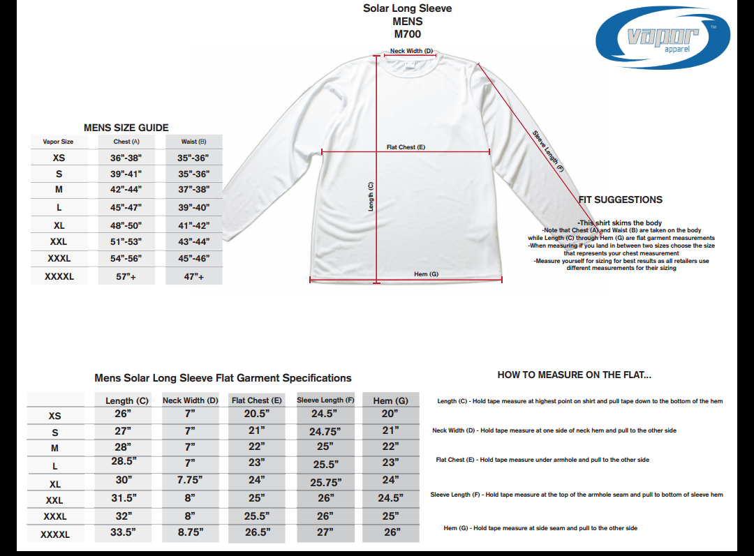 Solar Long Sleeve UPF+50