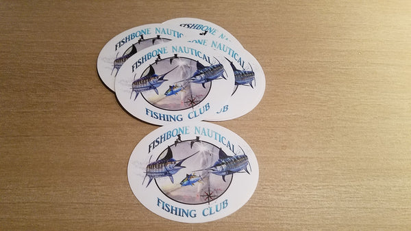 CURRENTLY SOLD OUT FishBone Nautical Fishing Club Decal